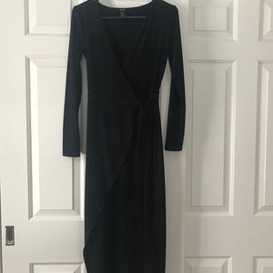 Forever 21 black wrap dress